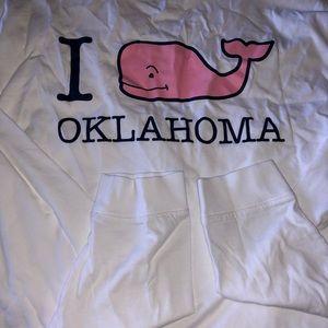 New Vineyard Vines Long Sleeved Oklahoma Shirt